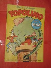 ALBO ORO N° 235-lg-originale 1950-DISNEY MONDADORI-topolino e il drago 40 lire
