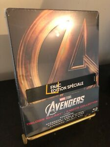 [BLU RAY] STEELBOOK 3 films AVENGERS. Edition FNAC française. Neuf.
