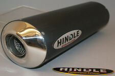 "Hindle 14"" long for 2"" pipe, Oval Undertail Black Ceramic Muffler - 753S-1420UBK"