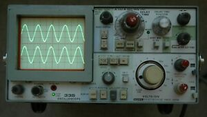 Tektronix 335 35MHz Oscilloscope, Calibrated, with Two Probes, SN: 311483