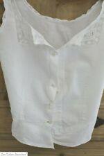 Antique French cotton VAL LACE lingerie CAMISOLE  c1880