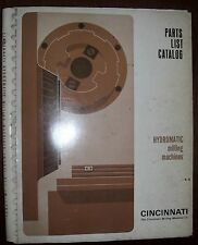 Cincinnati Parts List  Hydromatic Milling Machines