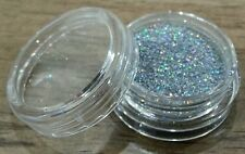 FINE GLITTER DUST POWDER 2g For Acrylic or Gel Nail Art - Rainbow Silver