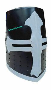 Medieval Knight Armor Crusader Templar Helmet Helm with Cross