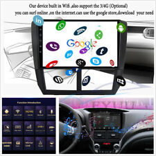 Android 9.1 2+32G 9'' Quad-core Car GPS 3G 4G BT DAB DVR OBD For 08-12 Forester