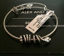 Alex and Ani Serpent Snake Wrap Bangle Russian Silver New/Cards RETIRED