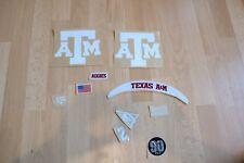 NCAA NFL Texas A&M Full Size American Football Helmet Decals FULL SET