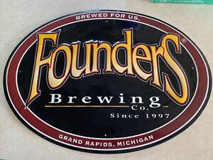 FOUNDERS kbs cbs backwoods bastard METAL TACKER SIGN craft beer brewing brewery
