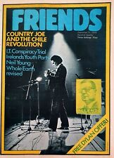 Friends Magazine - Decmeber 11th 1970 Issue.  Country Joe Sun Ra Neil Young