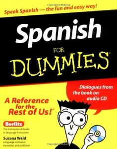 Spanish for Dummies by Wald, Susana Paperback Book The Cheap Fast Free Post