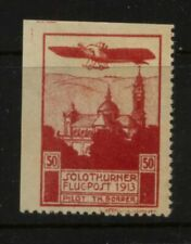 Switzerland   early    airmail label mint   1913        MS0628
