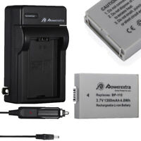 BP-110 Battery Pack + Charger for Canon VIXIA HF R20 R21 R26 R28 R200 R205 R206