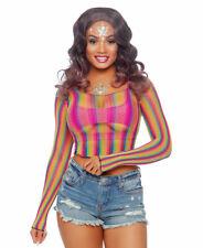 Rainbow Fishnet Crop Top - Leg Avenue 81600