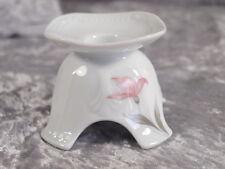 Mitterteich Porzellan 2040 SISSI Kerzenhalter Kerzenständer rosa Blüte
