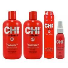 CHI FAROUK IRON GUARD Thermal Protecting Silk Shampoo +Conditioner + Hitzeschutz