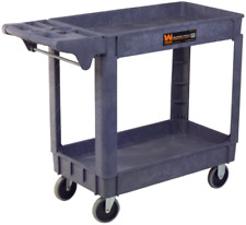Service Utility Cart With Wheels 500 Pound Capacity 40x17 Inch Rolling Shop Wen