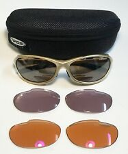TIFOSI STRADA T-1630 GOLD Cycling/Sport Sunglasses W/Changeable Lens/Zipper Case