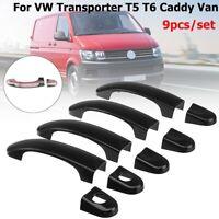 9 Stück Glanz Türgriffabdeckungen Türgriff Für VW TRANSPORTER T5 T6 CADDY