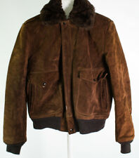 Schott Flight Leather Jacket G-1 I.S.674.M.S Rare Suede Size 38 Outer FLAWS