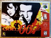 GoldenEye 007 (Nintendo 64, 1997) Game & Hard Case *TESTED & WORKING* AUTHENTIC