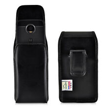 Motorola Moto Z2 Play Holster Black Clip Case Pouch Leather Vertical Turtleback