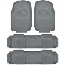 3 Row Car Floor Mat for SUV Snow Mud Trap Protection Trimmable Gray