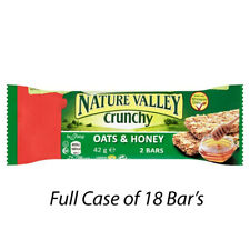 Nature Valley CRUNCHY Avena e Miele 42 G Custodia Completo di 18 Bar's Gym Snack 175572