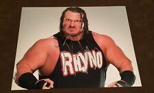 WWE Rhyno Firmato Autografato 8X10 FOTO RARA PROVA