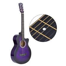"38"" Acoustic Guitar Folk Guitar Exquisite Gift for Beginner Student Purple F7Q6"