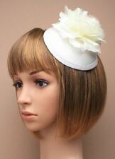 Fascinator Bridal HATINATOR hat cream FLOWER CLIP WEDDING RACES Ascot