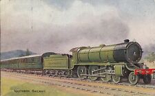 CD43.Vintage Postcard.Southern Railway. Plymouth Express. C T Howard