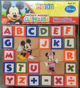 Disney Mickey Mouse Clubhouse Mickey & Minnie Learn & Grow Blocks New ABC