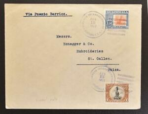 GUATEMALA to SWITZERLAND 1923 nice Geser & Co Cover G-City to St. Gallen LOOK