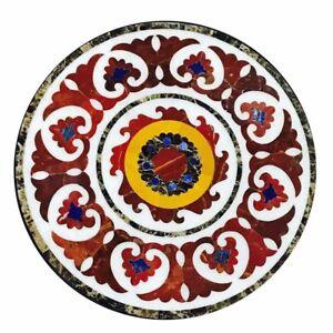 "30"" Marble sofa coffee top Table Semi Precious Stones handmade art work"