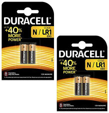 GENUINE 4 x DURACELL N MN9100 1.5V ALKALINE BATTERY LR1 E90 AM5 SECURITY REMOTE