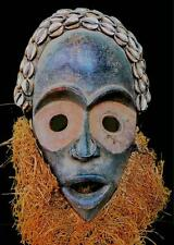 """Belle Tribale Dan BAGLE MASCHERA CON cowries coted """"Ivoire"""