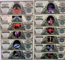 UNITED STATES $1 MILLION Dollars ZODIAC SERIES FANTASY BANKNOTES