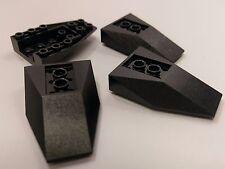 Bulk Lot Lego Part No.4856a: Black Wedge 6 x 4 Inverted, Qty x 4
