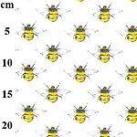 SHAH TEXTILES Cotton Poplin  Animal Designs Honey Bee Printed fabric,100% Cotton