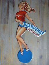 Pin-Up Cut-Out Blaupunkt Autoradio - 20x43cm Shaped Frau Blechschild Metal sign