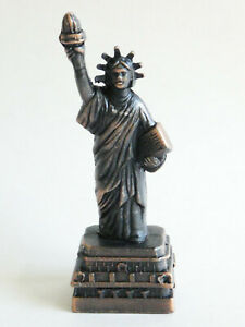 New York Statue of Liberty Pencil Sharpener - Bronze Color Metal - Souvenir
