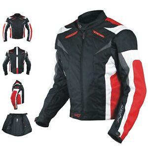 Giacca Tessuto Moto Certificata EN17092 Manica Staccabile Sfoderabile Rosso