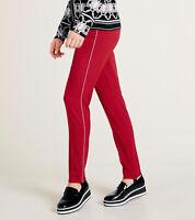 heine Steg-Hose schicke Damen Business-Hose mit Seitenstreifen Kurzgröße Rot