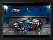 "FORD FIESTA MONSTER KEN BLOCK A3 FRAMED PHOTOGRAPHIC PRINT 15.7"" x 11.8"""