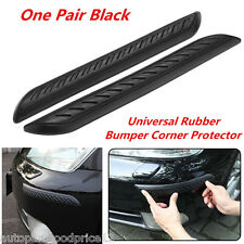 2Pcs Car Rubber Bumper Corner Protector Anticollision Scratchproof Guard Cover