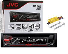 JVC KD-R370 CD AM/FM Player Car Stereo Radio Front Aux Detachable Face Warranty
