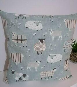 """16"""" Cushion Cover Baa Sheep Duck egg Blue"""