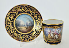 Antique French Tea Cup & Saucer Sevres Style