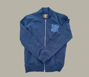 Undefeated UNDFTD Varsity Jacket Zip Up Sweater Shirt Black Men's  size M