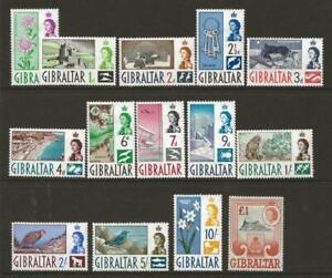 GIBRALTAR 1960-2 SG160-73 QEII Full Set to £1 Fine MINT Cat £80